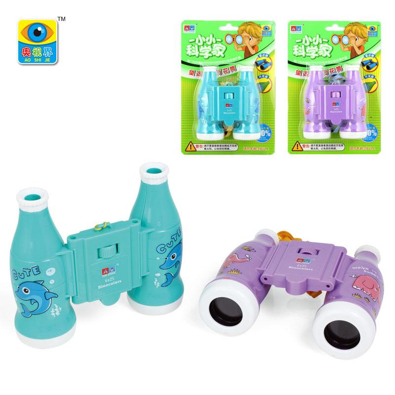 儿童望远镜卡通动物双目高清望远镜益智动脑小朋友玩具幼儿园教具
