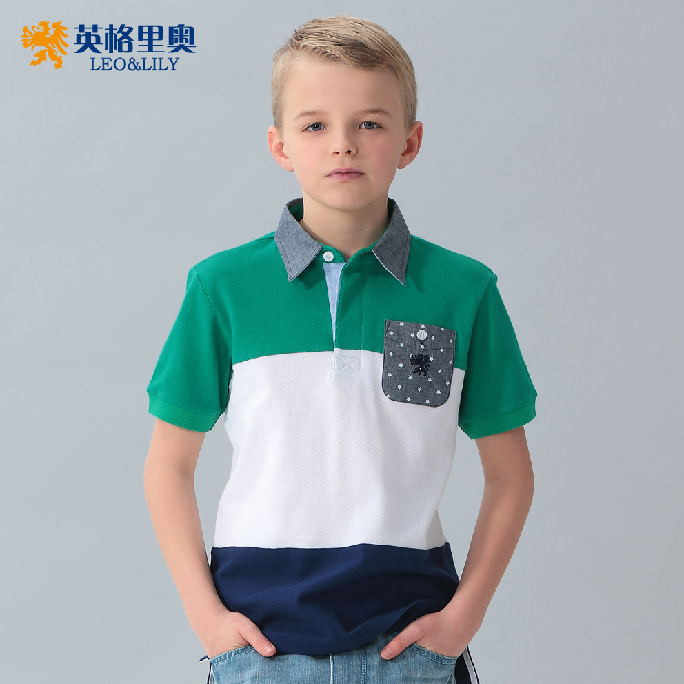 夏裝新款男童短袖純棉T恤中大童兒童裝半袖打底衫寶寶翻領polo衫