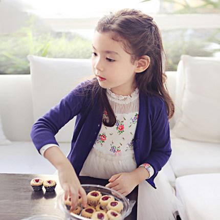 兒童毛衣外套女童針織衫開衫童裝女款長袖薄款毛線衣寶寶毛衣