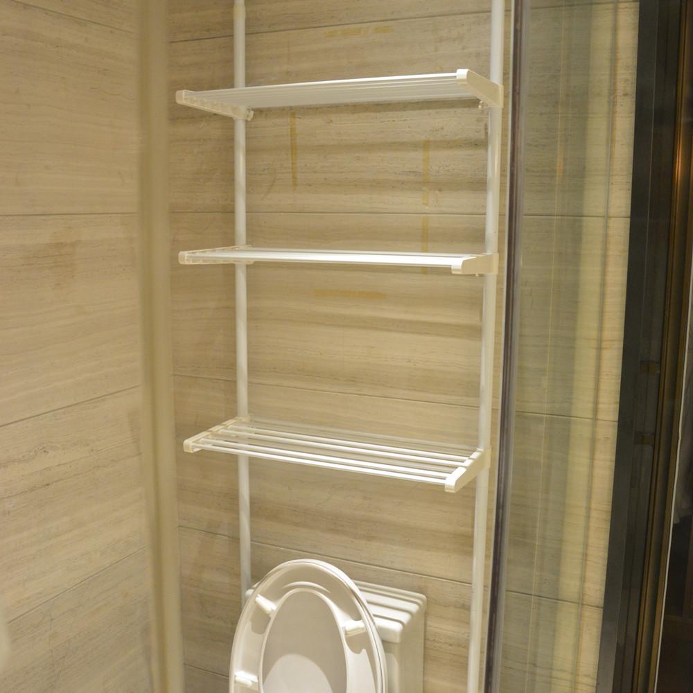 頂天立地衛浴置物架 免打孔伸縮浴室洗衣機架衛生間3層馬桶架層架