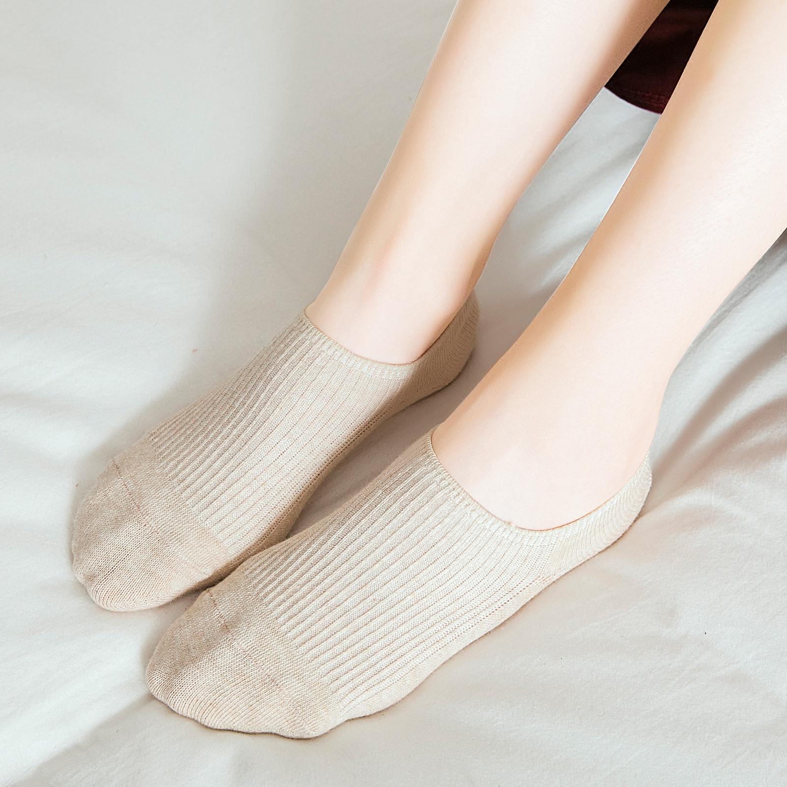 船袜女纯棉浅口袜子防滑不掉跟短袜纯棉夏季薄款低帮隐形袜单鞋袜
