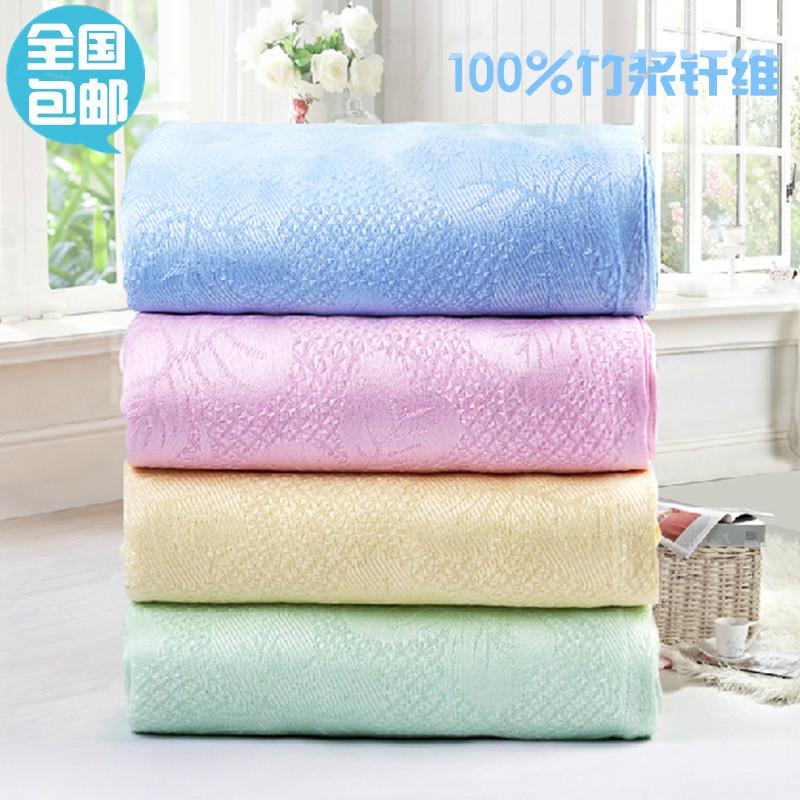 夏季竹纖維夏涼被單人蓋毯雙人空調毯毛巾被毯子兒童冰絲毯夏涼毯