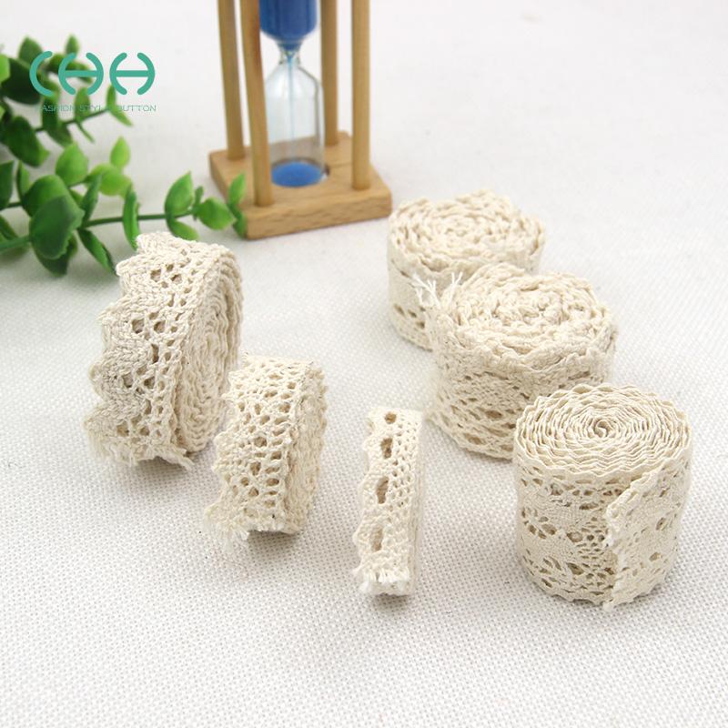 棉花邊棉線編織帶雪白蕾絲花邊輔料衣服米色裝飾手工diy布藝布料
