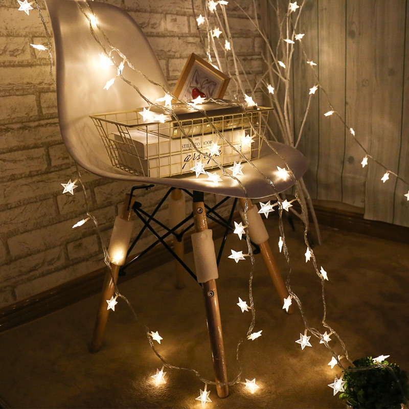 LED小彩灯闪灯串灯满天星出租屋改造房间装饰品灯饰网红布置星星的细节图片0