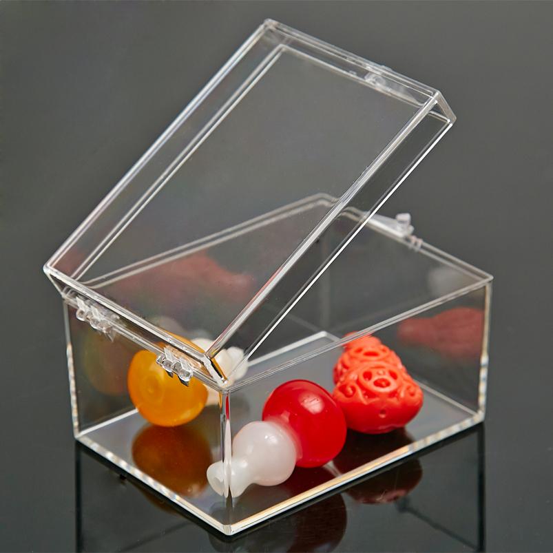 透明盒子長方形PC塑料盒標本收藏盒有帶蓋加厚展示樣品盒小收納盒