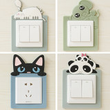 Creative switch stickers wall stickers protective sleeve 3d living room bedroom home modern minimalist socket switch decoration set