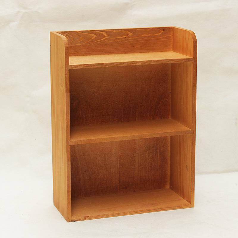 實木質復古桌面雜物收納多層創意化妝臺香水置物架 化妝品收納盒