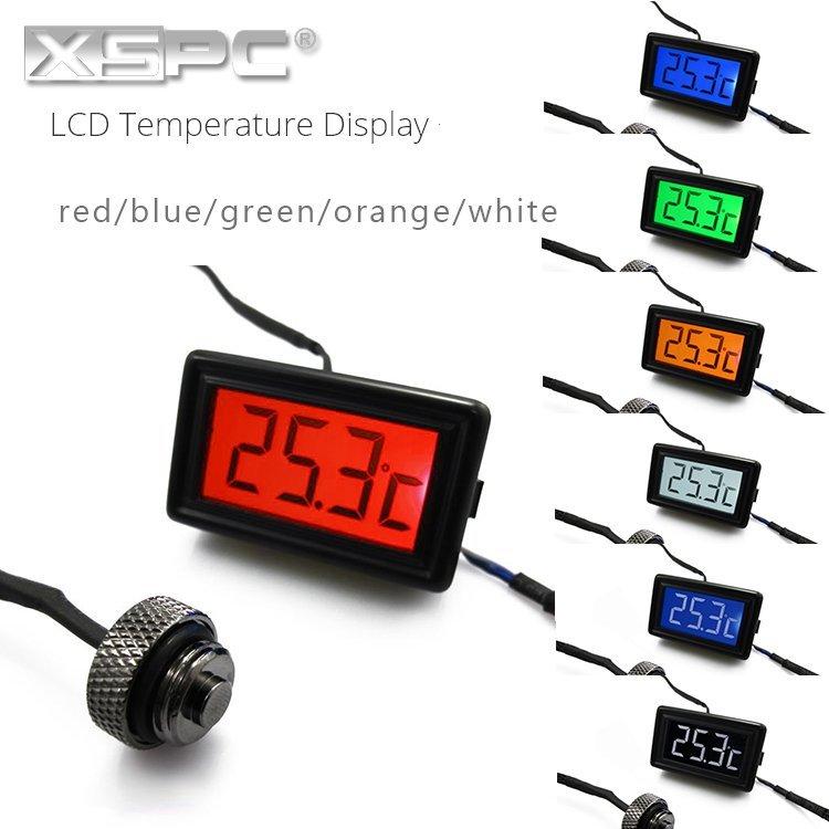 XSPC LCD Temperature Display溫度顯示器 探溫計測溫計堵頭 支架