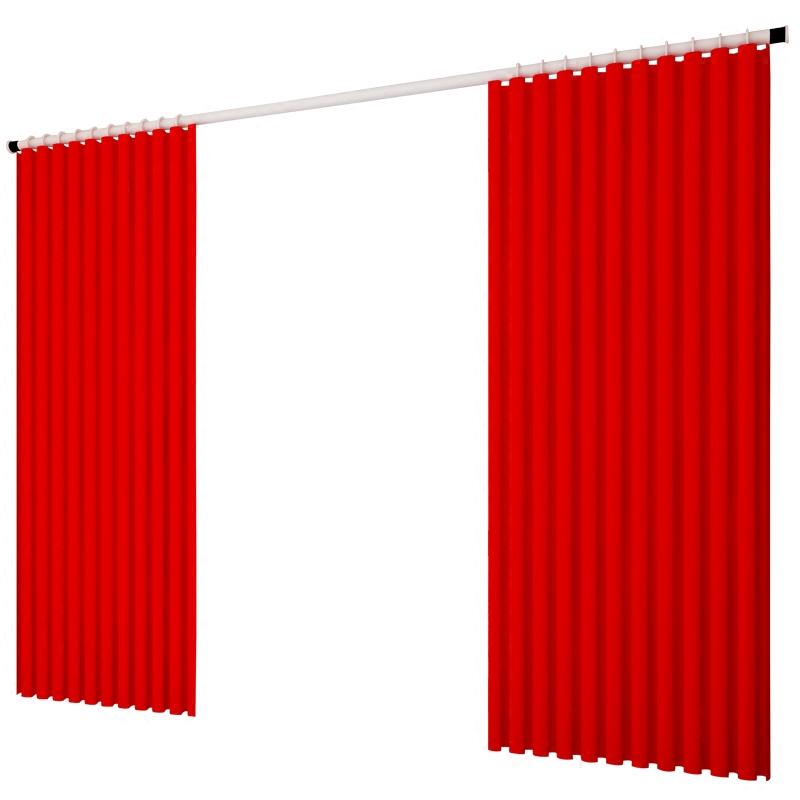 窗帘杆免打孔卧室伸缩杆挂钩式阳台撑杆晾衣杆浴帘杆单杆收缩杆