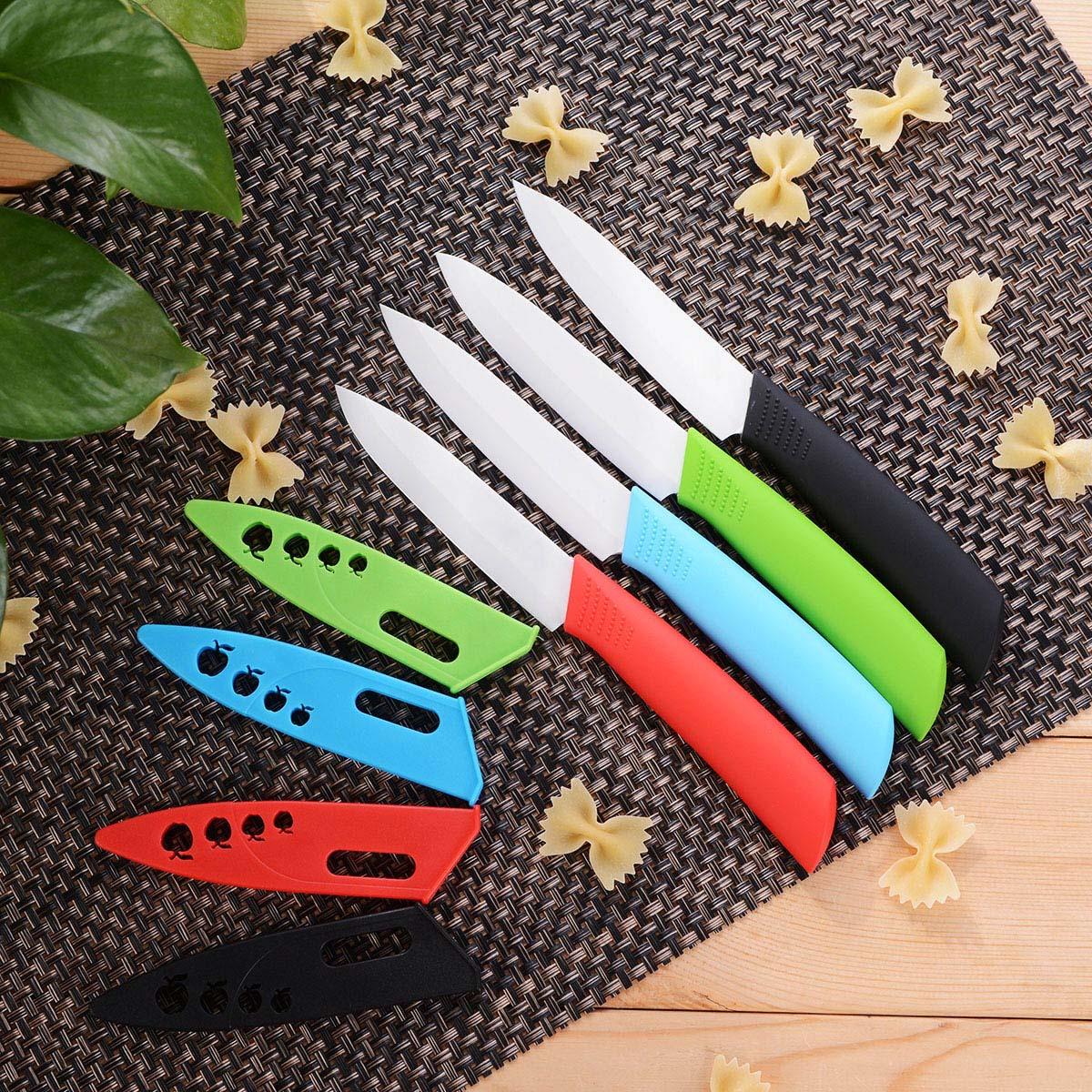便攜4寸水果刀配刀鞘時尚家用廚房陶瓷刀具不生鏽輔食瓜果刀鋒利