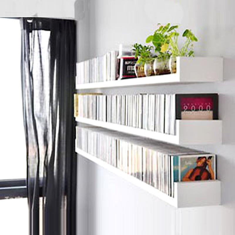U型隔板免打孔牆上置物架客廳裝飾轉角卧室壁掛書架牆壁擱板木板