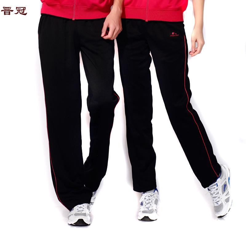 晉冠運動褲男女春夏季薄款寬鬆直筒褲加肥加大碼學生長褲寬鬆衛褲
