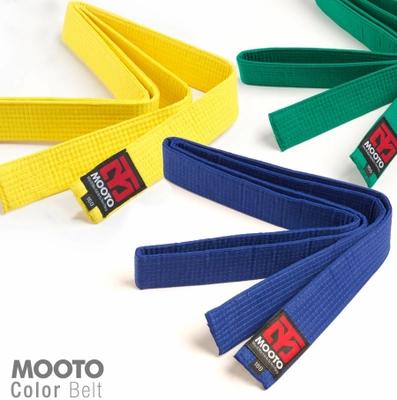 MOOTO韓國原裝跆拳道色帶單圈雙圈道帶 考級色帶繡字