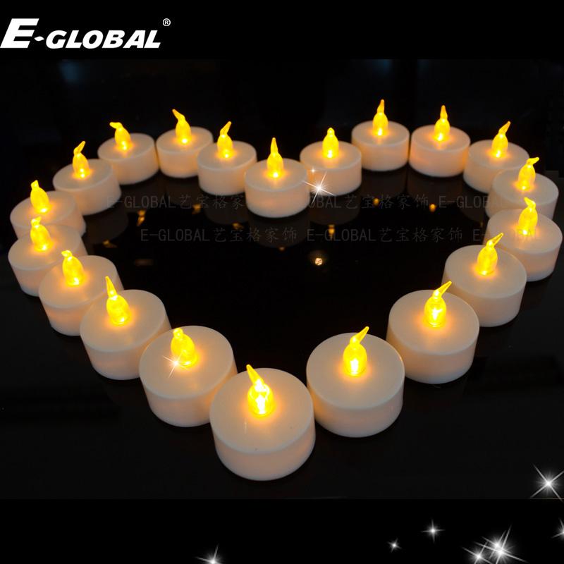Led電子蠟燭閃爍光求愛浪漫布置道具燭光晚餐燭臺常亮20多個小時