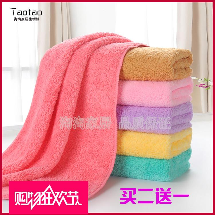 韓國超細纖維珊瑚絨毛巾長絨柔軟加厚擦頭巾超強吸水乾發毛巾包郵