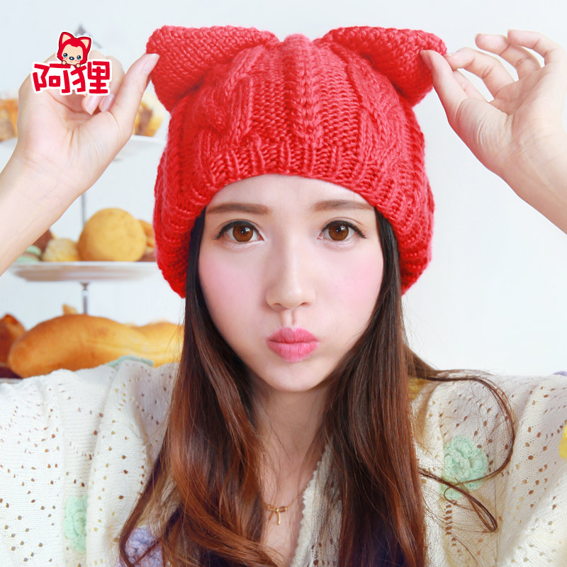 283d4c83069c1 Buy Ali ali ali official classic winter essential red knitted hat warm  winter wool hat girls birthday gift in Cheap Price on m.alibaba.com