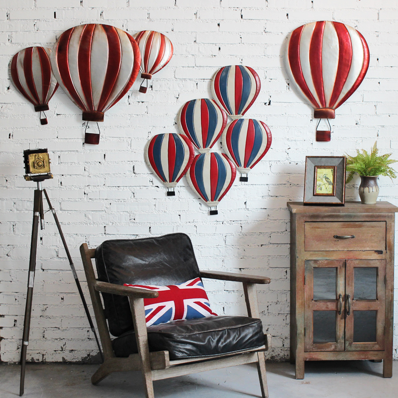American Retro Hot Air Balloon Models Dimensional Decorative Wall Creative Home Decor Coffee Bar Ornaments In Price On