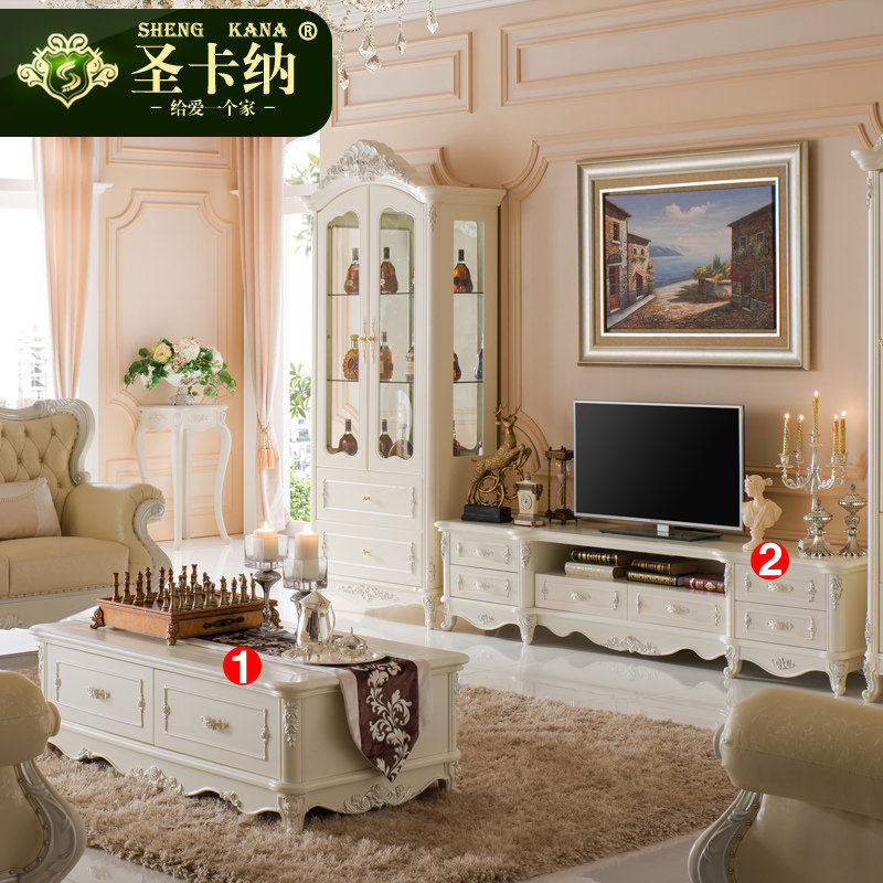 Buy Amoy Buying French Tv Cabinet Coffee Table Combination ...
