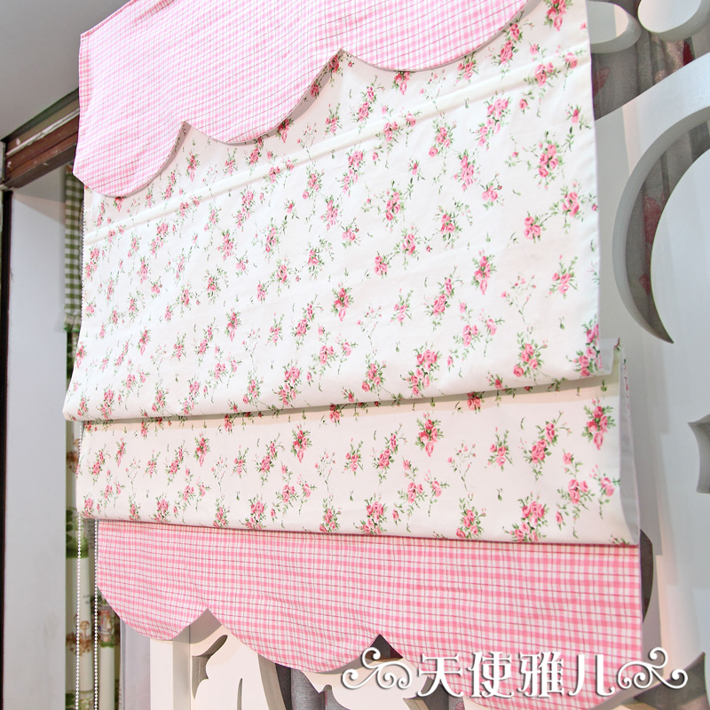 Buy Angel Ya Children Lift Curtain Roman Blinds (including Track) Pink  Plaid Cotton Small Floral Fight In Cheap Price On M.alibaba.com