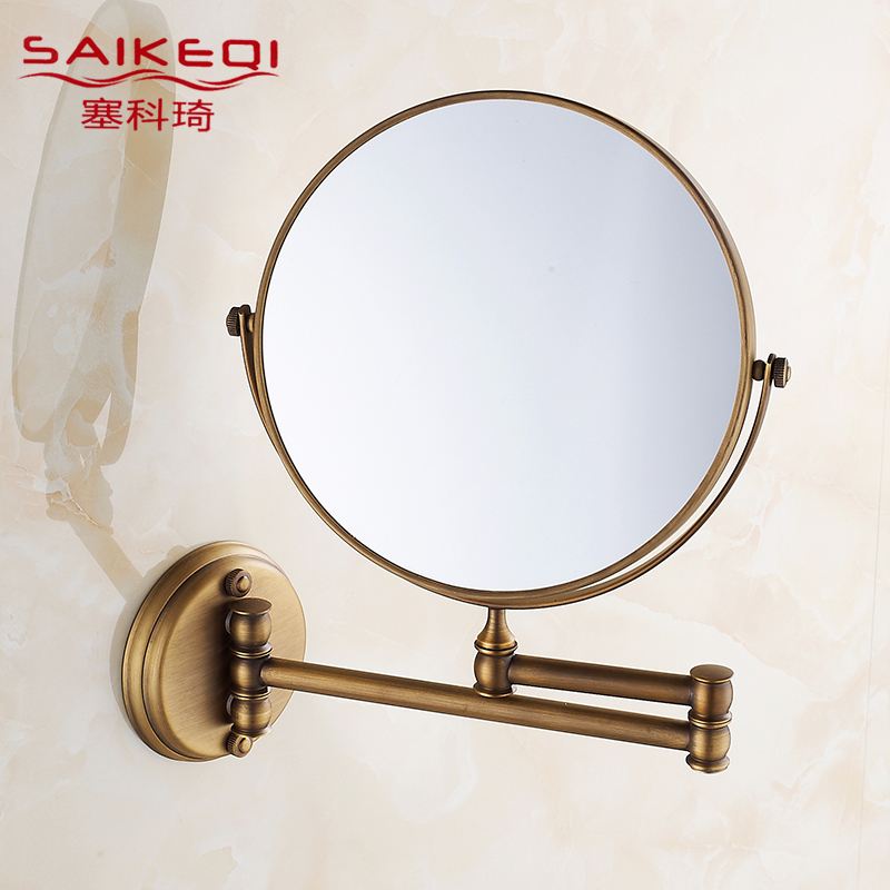 Antique Bathroom Wall Mirror Vanity Telescopic Folding Sided Magnifying In Price On M Alibaba