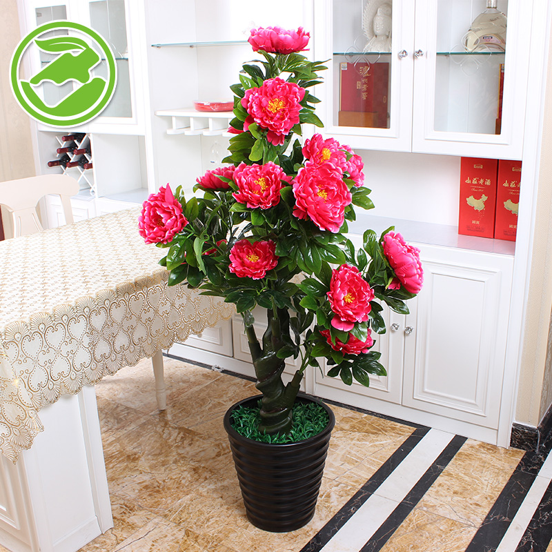 Buy artificial flowers peony large scale simulation tree simulation buy artificial flowers peony large scale simulation tree simulation flower plastic flower decoration floor suite matter of planting potted landscape mightylinksfo