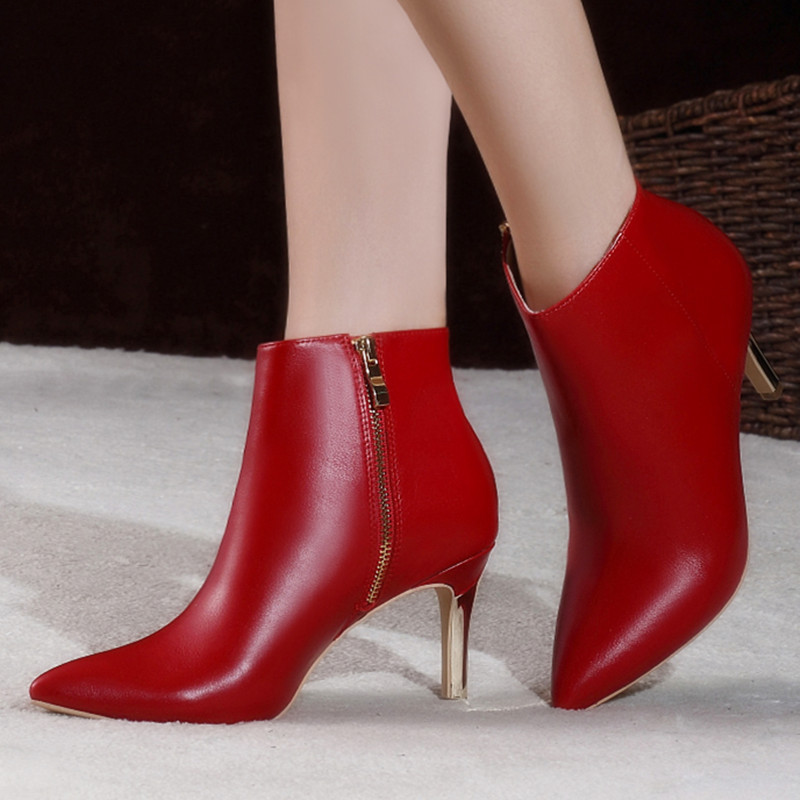 8f897215806 Buy Autumn and winter red wedding bridal shoes wedding shoes high ...