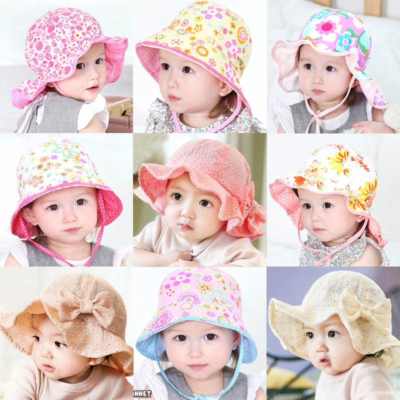 Buy Baby princess 1 years old female baby sun hat spring and summer sun  lace bucket hats sun visor hat for children 6-12 months 2 in Cheap Price on  ... 5af613e37ce