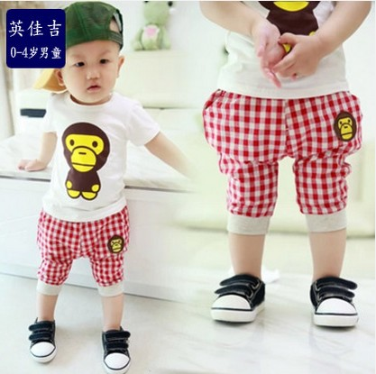 ce313a67c3d22 Buy Baby summer new children's clothing boys girls infant clothes short  sleeve t-shirt pants suit 0-1-2-3-4-year-old in Cheap Price on m.alibaba.com