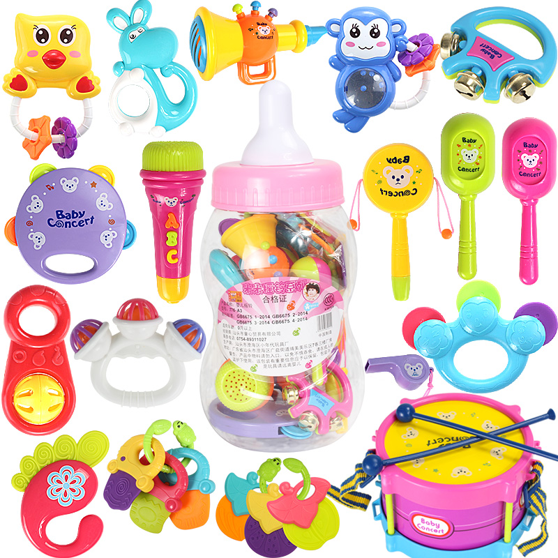 Buy Baby Toys 0 3 Months Months Newborn Infant Rattle Teether