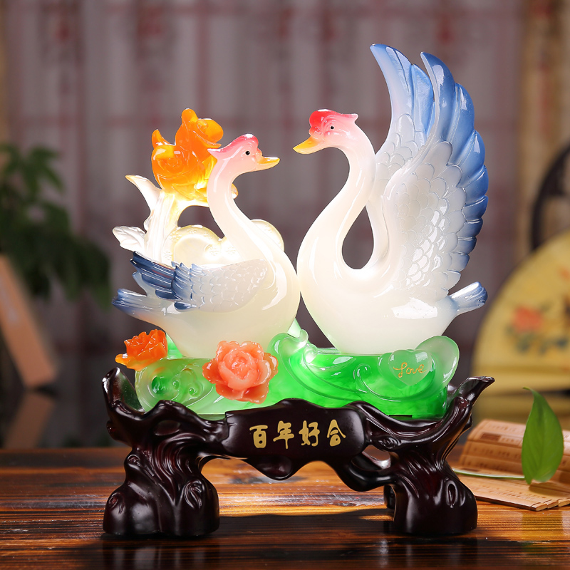 Buy Bainianhaoge Swan Ornaments Wedding Gift Wedding Gifts To Send