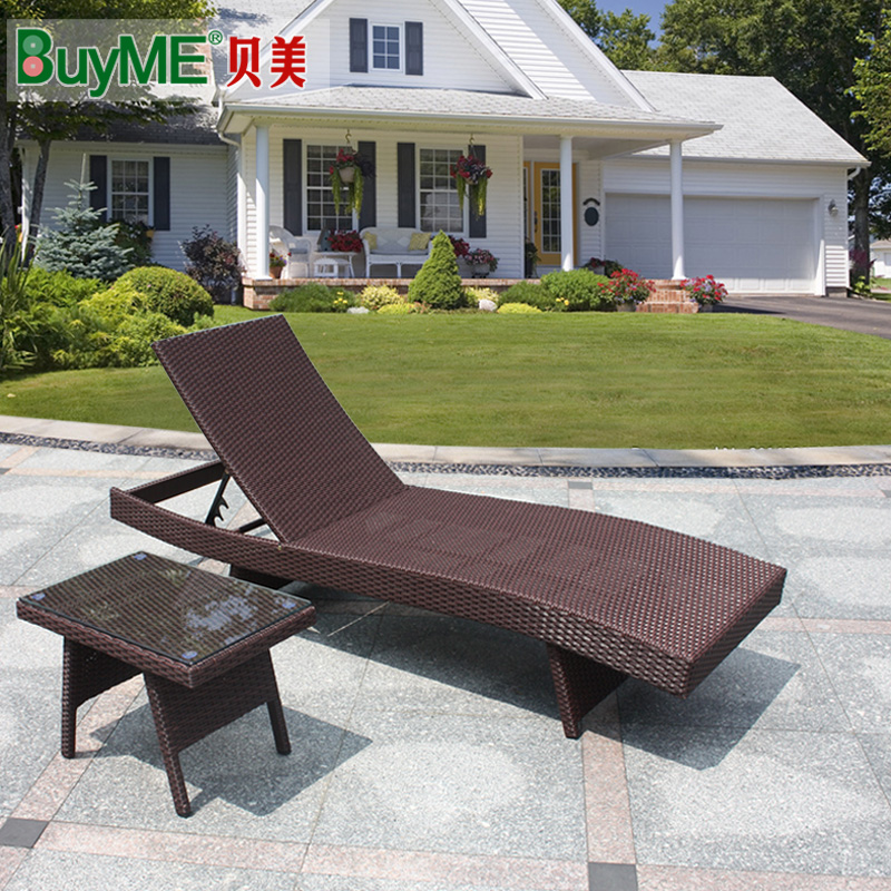 balcony patio furniture. Buy Balcony Patio Outdoor Furniture Rattan Lying Bed Recliner Chair Siesta Folding Chairs Leisure Club Swimming Pool In Cheap Price On