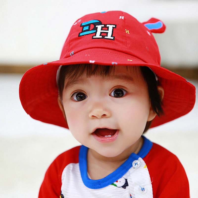 120b404e2706 Buy Bears flowers in spring models baby hat baby hat summer influx of  children boys and girls cotton sun hat fisherman hat bucket hats in Cheap  Price on ...