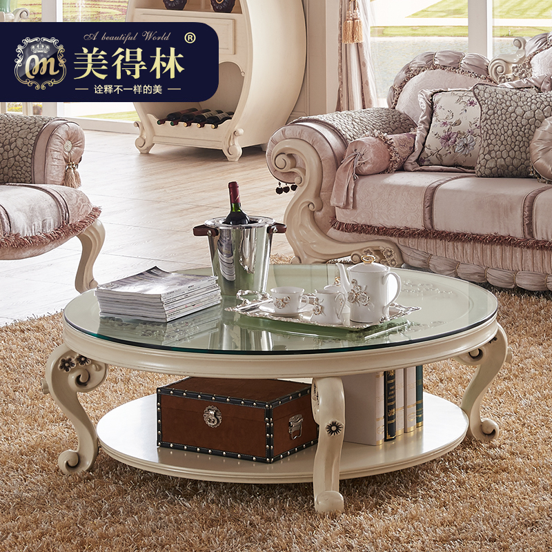 Buy Beautiful Forest Furniture Continental Carved Wood Coffee Table Round  Coffee Table French Neoclassical Living Room Coffee Table Coffee Table In  Cheap ...