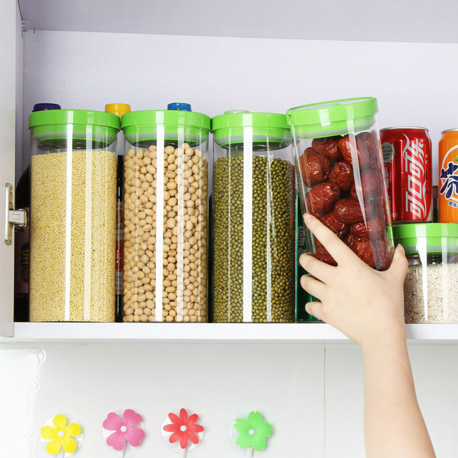 Belo exposed more heat resistant glass sealed cans kitchen storage canister  kitchen canister