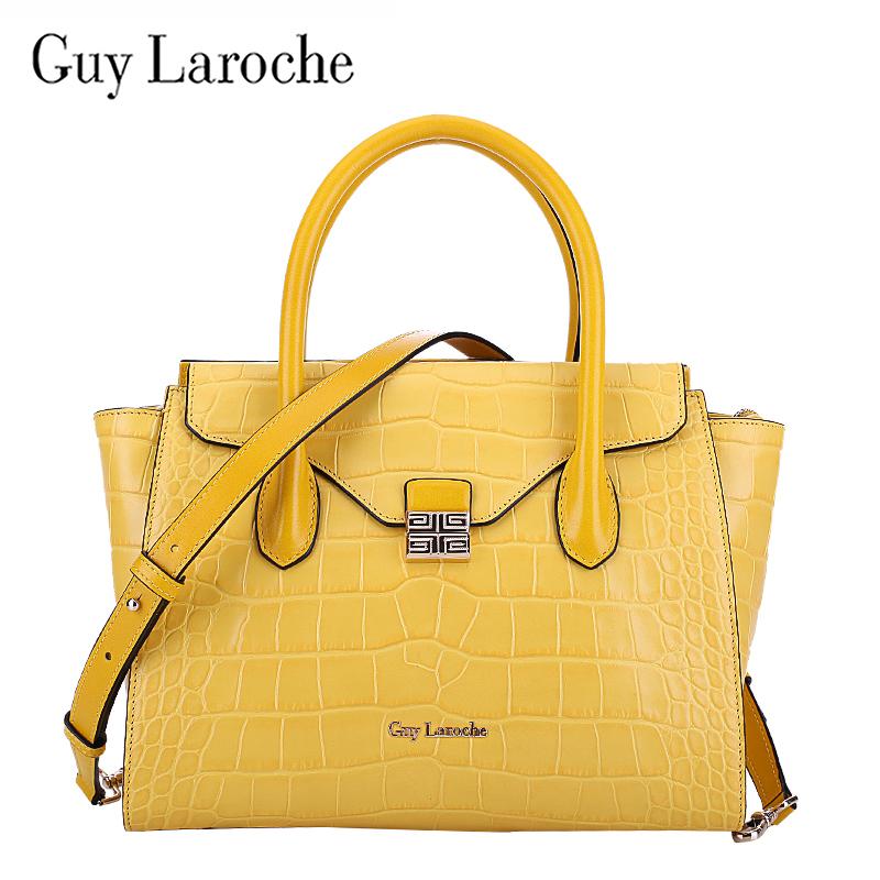Brand Anniversary Guy Laroche Leather Handbags European And American Fashion Crocodile Pattern Shoulder Bag In Price On