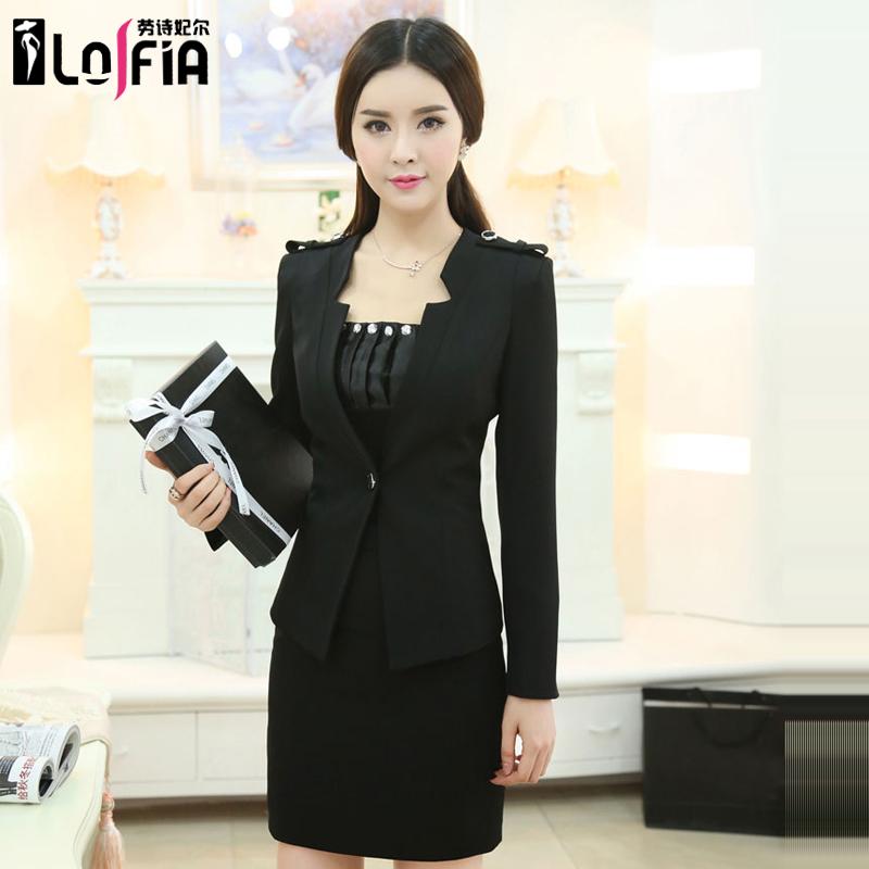 Buy Career Suits Women Wear Suits Slim Interview Ladies Dress Women