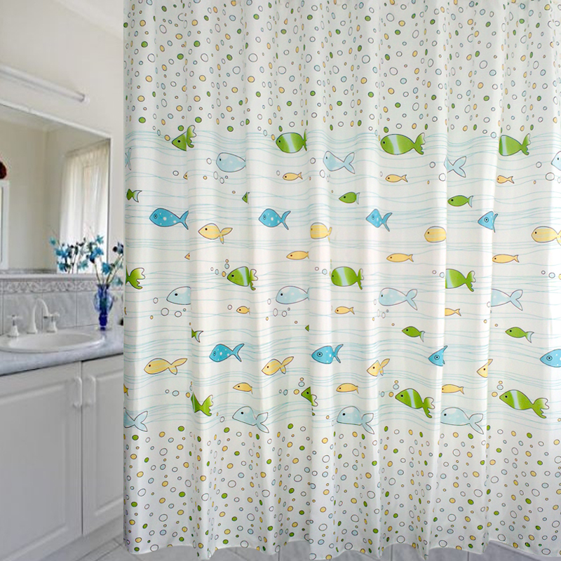 Buy Cartoon Bubble Fish Bathroom Mildew Waterproof Polyester Fabric Shower Curtain Ikea Thick Package Shipping To Send The Hook In Cheap Price On Malibaba