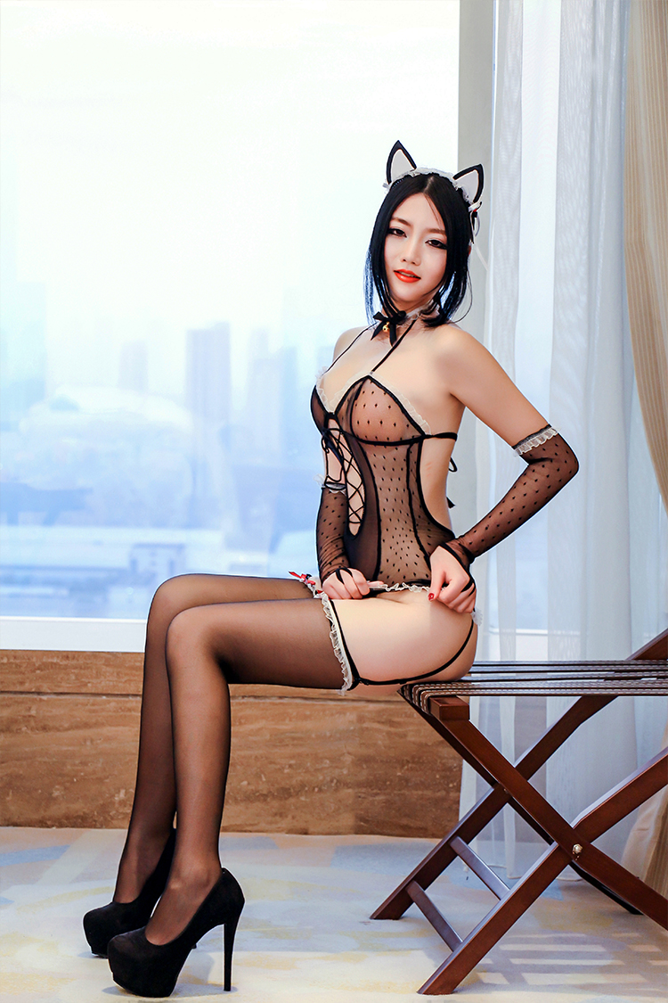 7522eaa112 Buy Cat girl cosplay costume adult sense of sexy lingerie uniform  temptation transparent lace stockings open file bhy in Cheap Price on  m.alibaba.com