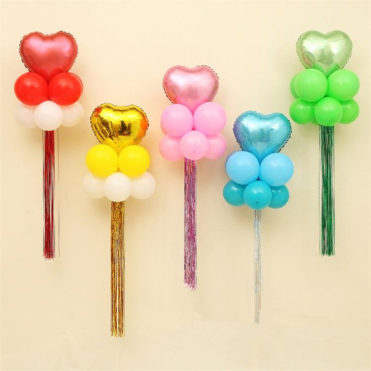 Buy Rain silk striped balloon birthday wedding wedding supplies ...