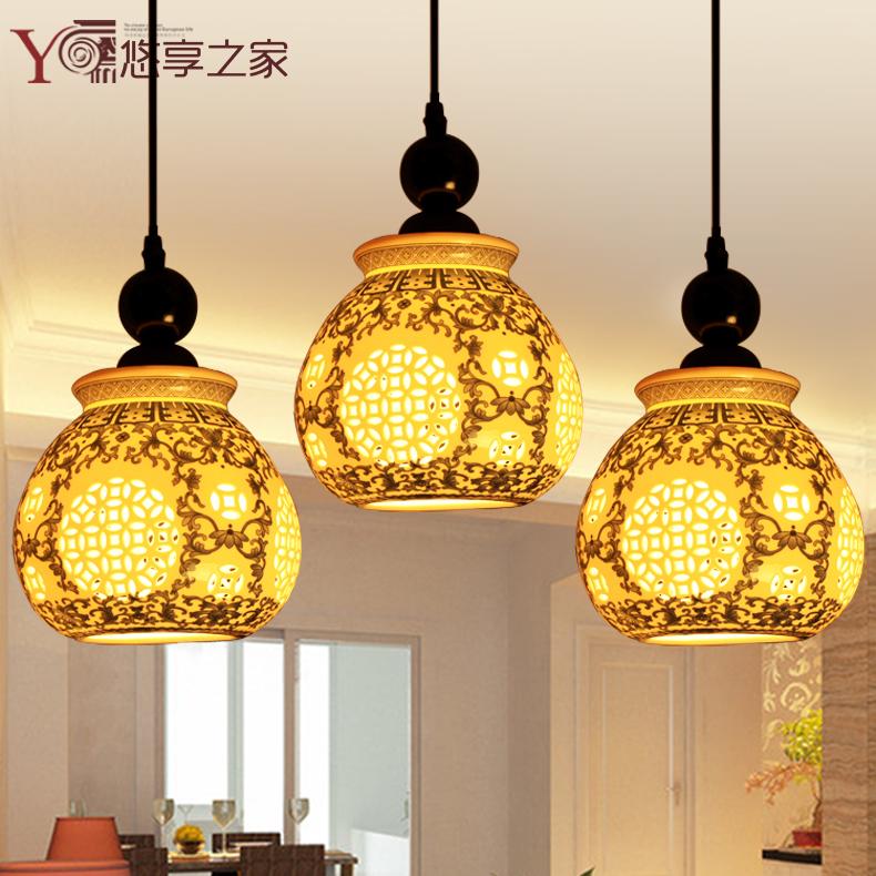 Buy Chinese Ceramic Lamp Chandelier Lamp Light Bar Restaurant Lights