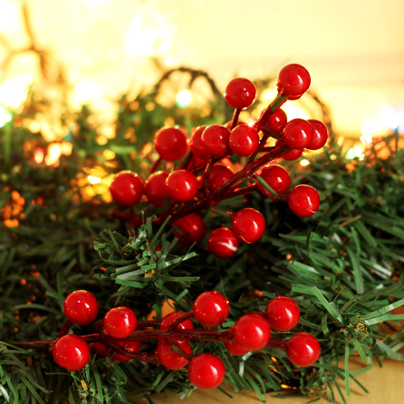 buy christmas tree 6 branches fork red berries christmas wreath rattan christmas decorations props decorative accessories diy in cheap price on malibaba - Red Berry Christmas Tree Decorations