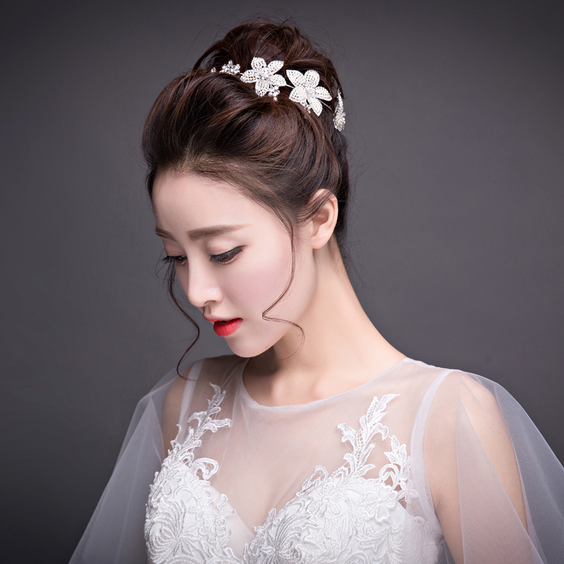 Chunhuaqiuyue Wedding Show Accessories Bridal Headdress Korean Hair Jewelry Head Flower Bands In Price On