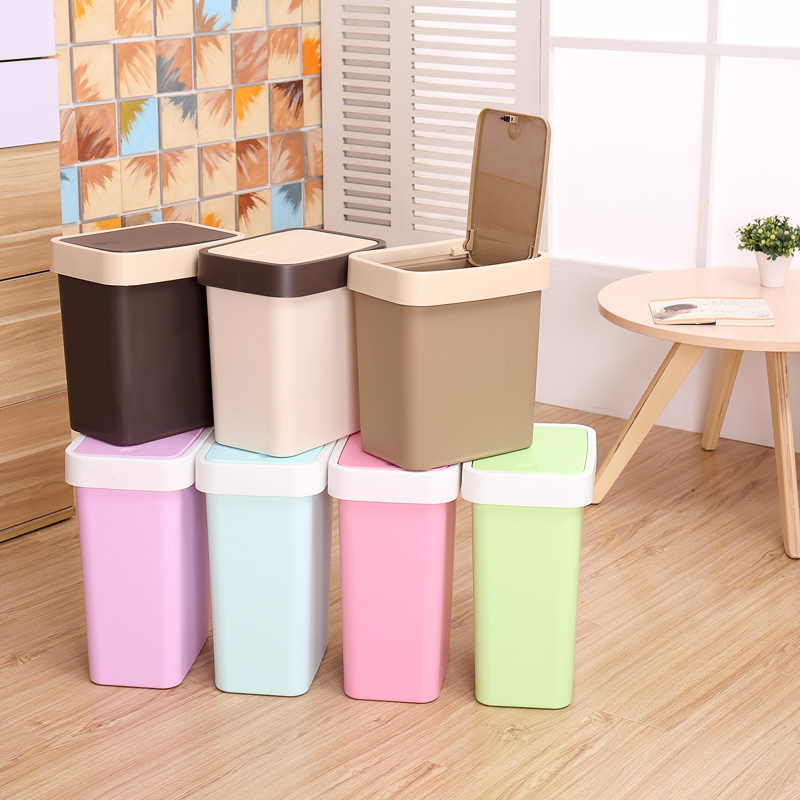 Concord Creative Household Kitchen Living Room Bathroom Trash Can With Lid Large Box Covered Plastic Barrel Dustbin In Price On M Alibaba