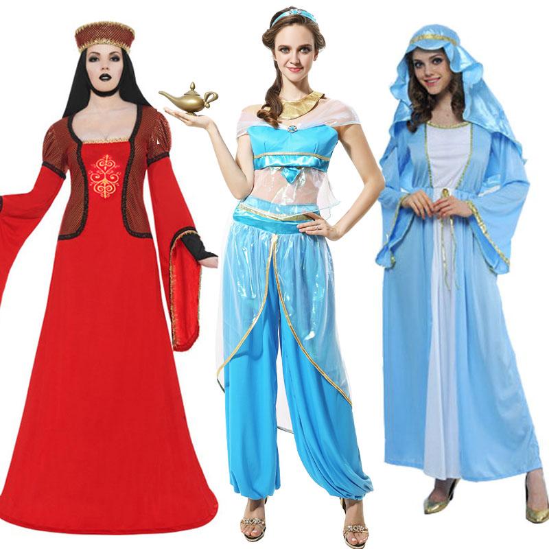b3709bbc0e85 Cos arab costume halloween costume party dress fashion show models of the arab  princess girl clothes