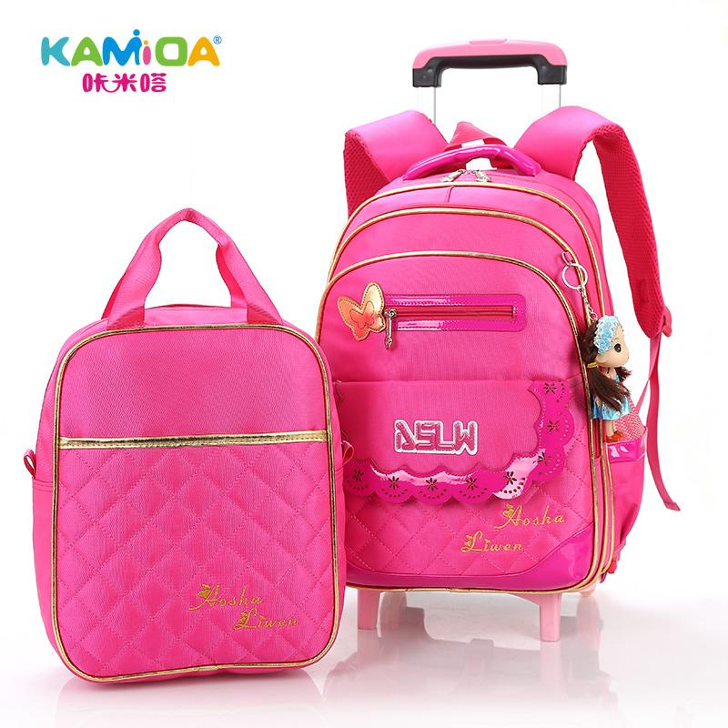 Buy Cracking meters despair children trolley bags 1-3-5 grade girls  schoolbag backpack schoolbag burdens in Cheap Price on m.alibaba.com 77d2821109