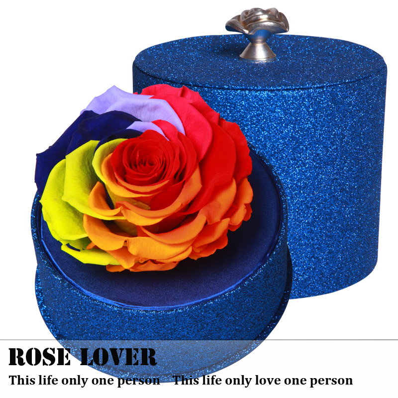 Buy Creative Birthday Gift Colorful Flower Preservation Preserved Roses Sent His Girlfriend A Bluelover In Cheap Price On Malibaba