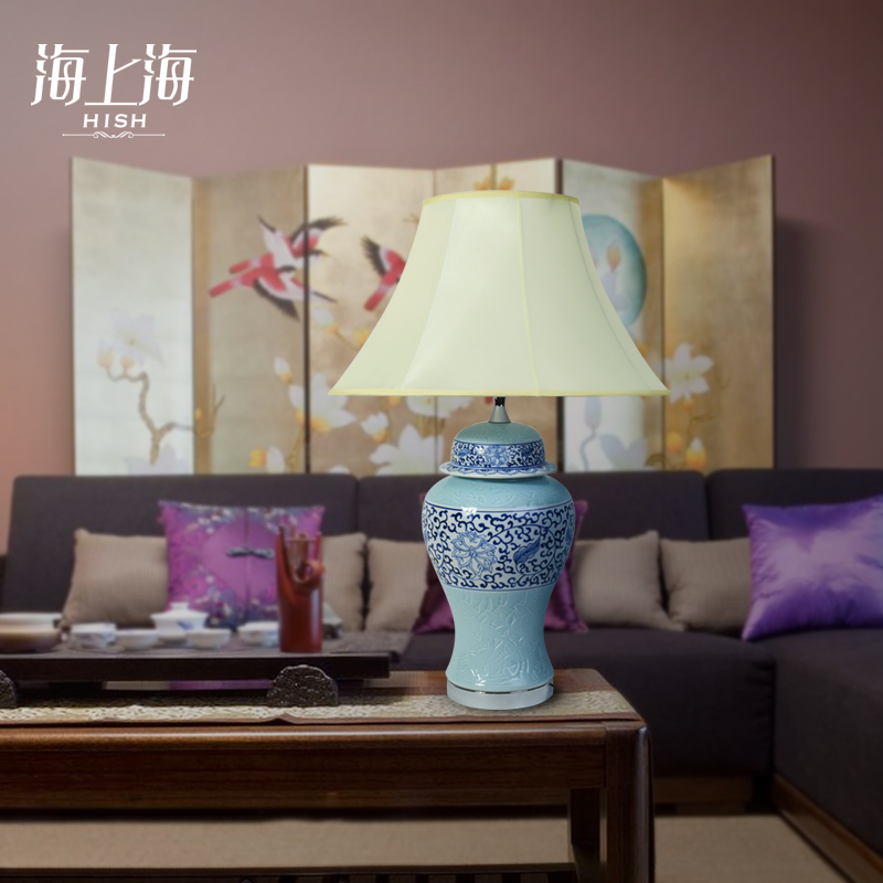 Buy Creative blue and white chinese ceramic table lamp ...