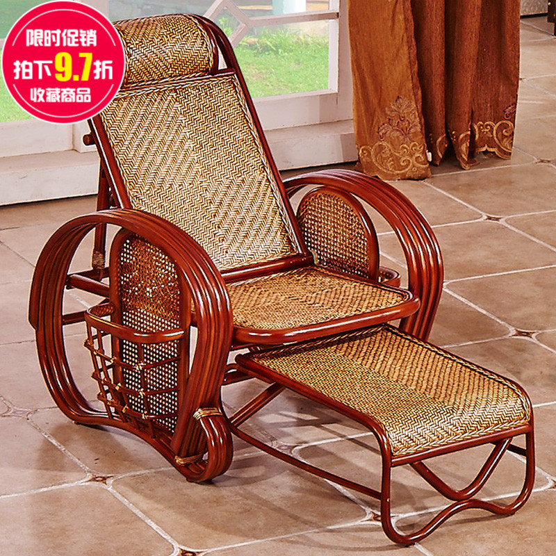 Buy Creative Rattan Furniture Balcony Folding Rocking Chair Recliner Chair  Happy Old Wicker Chair Lazy Chair Beach Chair Home In Cheap Price On  M.alibaba. ...