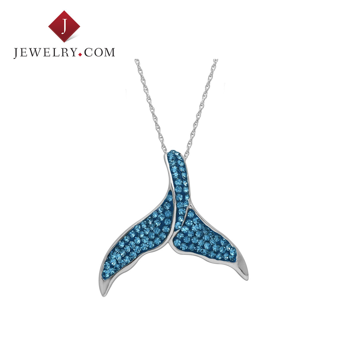 3ae262fea Buy Crystaluxe whale tail 925 silver inlaid swarovski crystal pendants  female models pendant with necklace in Cheap Price on m.alibaba.com