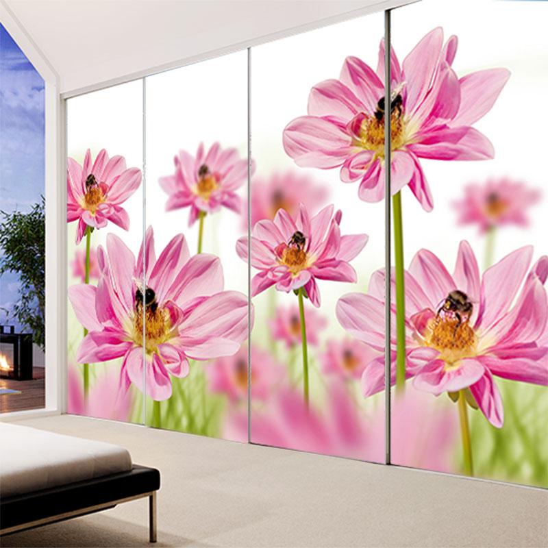 Buy Custom living room sofa decals opaque sliding door wardrobe ...